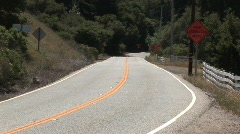 2 Lane Road Driving Toward Stock Footage