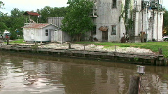 Old dock building Abbeville LA Stock Footage