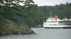 Antique steamship. Stock Footage