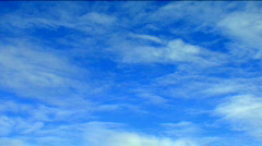 Stratus Clouds Blue Sky Cloudscape Time Lapse Stock Footage