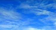 Stock Video Footage of Stratus Clouds Blue Sky Cloudscape Time Lapse