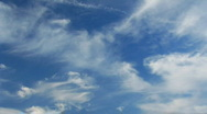 White fluffy clouds Stock Footage