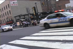 CARAVAN OF NYC POLICE CARS - stock footage