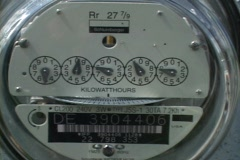 Electric Meter  Stock Footage