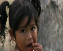 Stock Video Footage of A child eating sugar cane