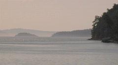 Trincomali Channel Pender Island Stock Footage