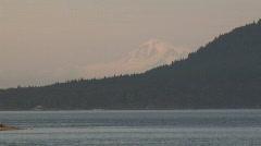 Mt Baker past Saturna Island Stock Footage