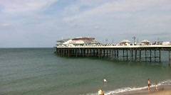 Pier and the Pavilion Theatre at Cromer Norfolk England Stock Footage