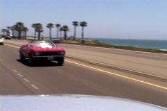 1967 Camaro beach drive Stock Footage