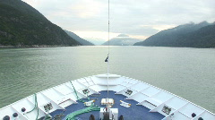 Entering Tracy Arm Stock Footage