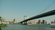 Stock Video Footage of Manhattan Bridge from Dumbo