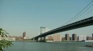 Manhattan Bridge from Dumbo Stock Footage