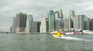 Stock Video Footage of Downtown Nyc Water Taxi 2
