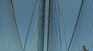Stock Video Footage of Brooklyn Bridge Bicycling