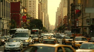 Stock Video Footage of Columbus Circle Traffic 8th avenue