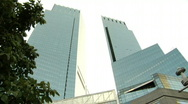 Stock Video Footage of Columbus Circle Time Warner Building