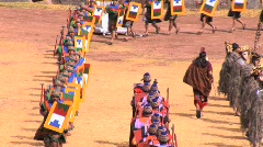 Participants in the Inti Raymi festival Cuzco, Peru Stock Footage