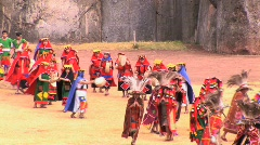 Participants dance at the Inti Raymi festival Cuzco, Peru Stock Footage