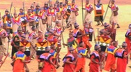 Stock Video Footage of participants run at the Inti Raymi festival Cuzco, Peru