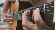 Guitar blues by the lake. Stock Footage