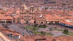 Plaza in Cuzco, Peru during Inti Raymi festival Stock Footage