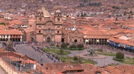 Stock Video Footage of plaza in Cuzco, Peru during Inti Raymi festival