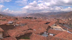 Roofs and plaza in Cuzco, Peru Stock Footage