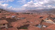 Stock Video Footage of roofs and plaza in Cuzco, Peru
