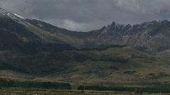Mountain Range in Fiordland National Park, New Zealand Stock Footage