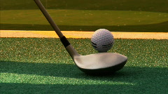 Driving Range Ball Hit Stock Footage