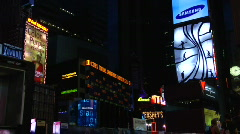 Times square early morning Stock Footage