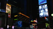 Stock Video Footage of Times square early morning