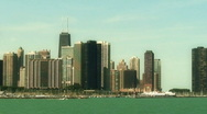 Chicago Skyline Pan R to L Stock Footage