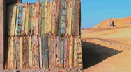 colorful painted fence Stock Footage