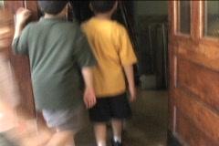 WALKING INTO SCHOOL Stock Footage