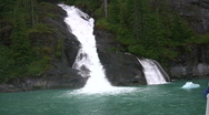 Stock Video Footage of Natural waterfalls from glaciers