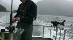 Setting the lines for fishing Stock Footage