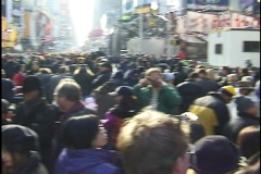 NYC New Year's Eve 2000 Crowd 02 Stock Footage