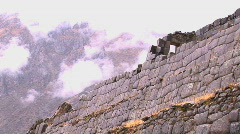 Stock Video Footage of Peru ruin wall