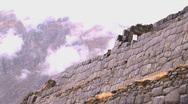 Peru ruin wall  Stock Footage