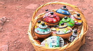 Stock Video Footage of Peru ceramic souvenirs in a basket