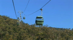 view of skyrail from inside cabin Australia Stock Footage
