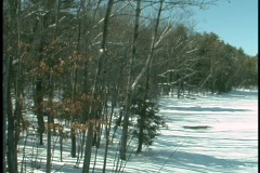 Stock Video Footage of Snow Covered Sunny Day