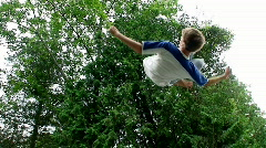 Trampoline  Aerials - Slow Motion - HD Stock Footage