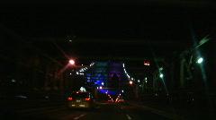 Stock Video Footage of Brooklyn Bridge Light Show 2008-3 driving