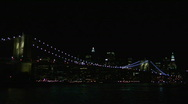 Stock Video Footage of Brooklyn Bridge Light Show 2008-4
