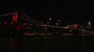 Stock Video Footage of Brooklyn Bridge Light Show 2008-6