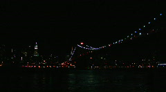 Brooklyn Bridge Light Show 2008 Stock Footage