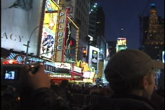 NYC New Year's Eve 2000 Police 03 Stock Footage