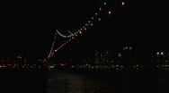 Stock Video Footage of Manhattan Bridge Train Passing with Sound